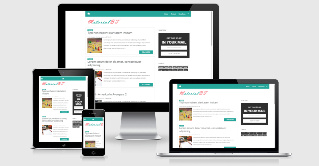 MaterialBT Material Design Responsive Blogger Template - akutemplates
