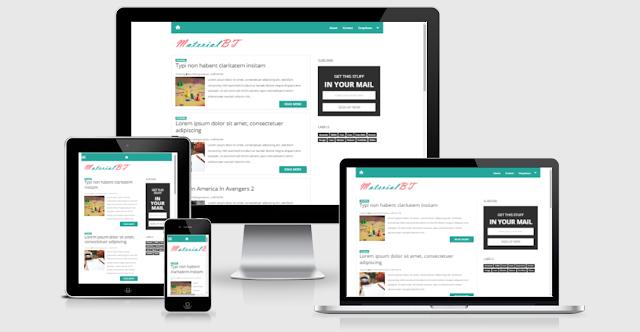 MaterialBT Material Design Responsive Blogger Template