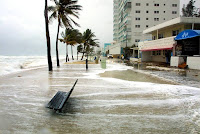 Rising seas projected under climate modeling could worsen beach erosion, already a problem in South Florida. (Credit: Alexia Fodere / Miami Herald) Click to Enlarge.