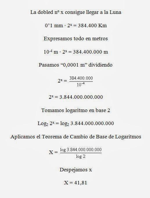 Explicación de la resolución de la ecuación exponencial, uso de logaritmos y sus propiedades.