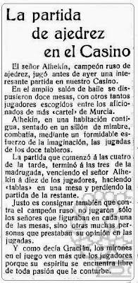 Sobre las simultáneas de Alezander Alekhine en La Verdad, 9 de junio de 1922