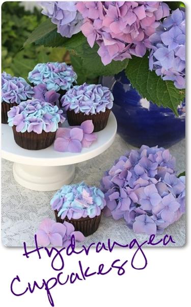 cupcakes blommor, cupcakes flowers, cupcakes hortensia, cupcakes hydrangea