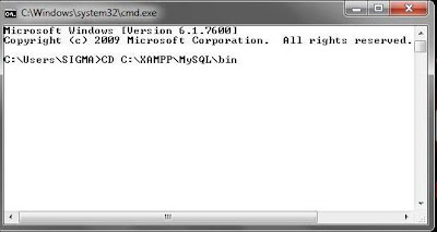 112 MySQL dengan menggunakan Command Prompt (CMD)