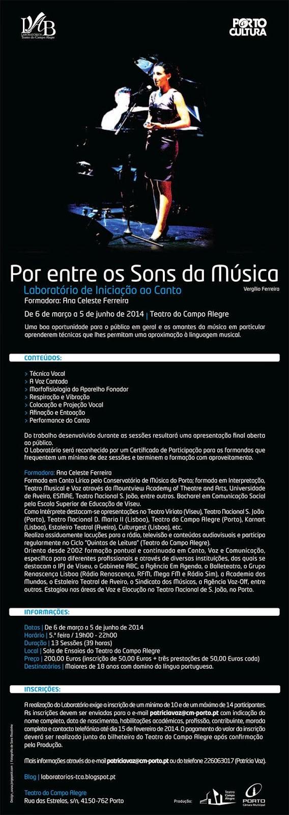 curso de canto e técnica vocal, Ana Celeste Ferreira