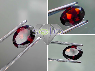 Batu Permata Natural Red Garnet
