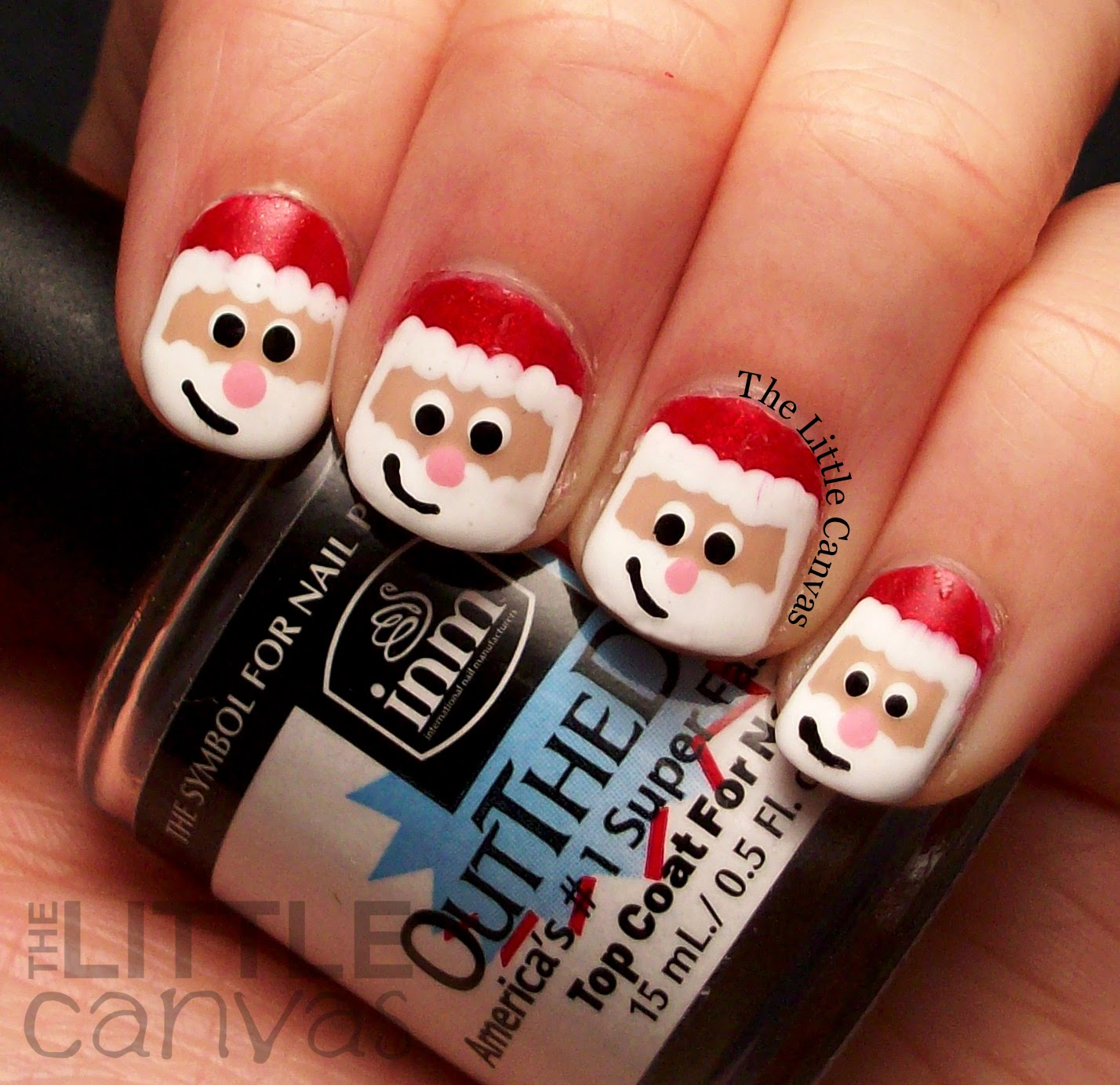 Santa claus nail art take 2 the little canvas santa claus nail art take 2 prinsesfo Choice Image