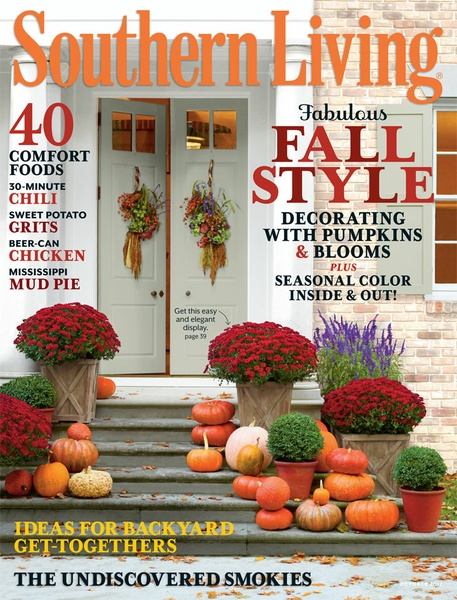 ... This Months Southern Living Has Terrific Ideas For Decorating With  Pumpkins And Mums! I Like The Haphazard Placement Of The Pumpkins On The  Steps.