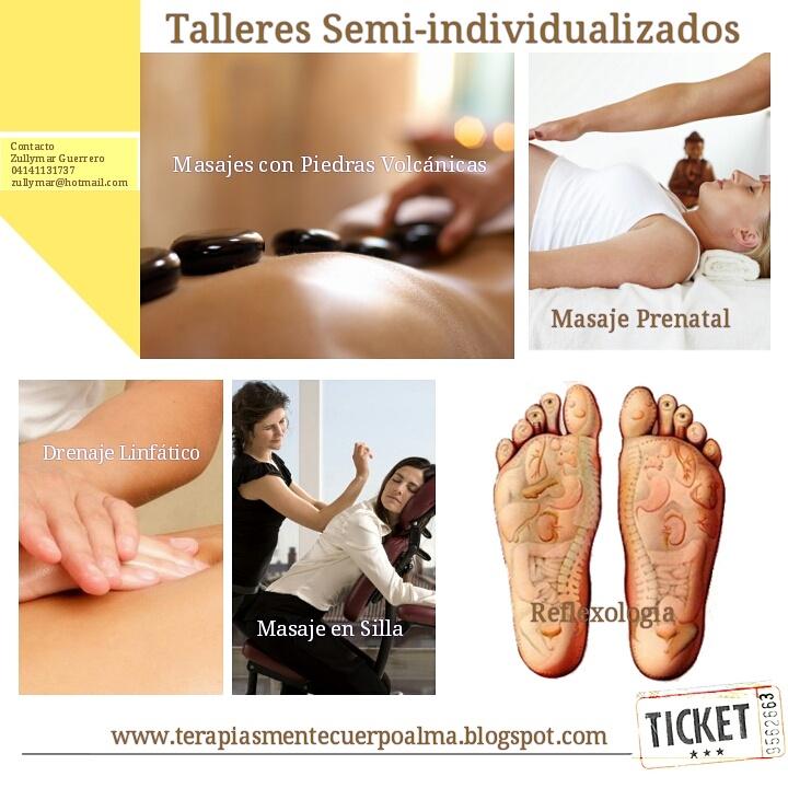 TALLERES SEMI-INDIVIDUALIZADOS DE MASAJE