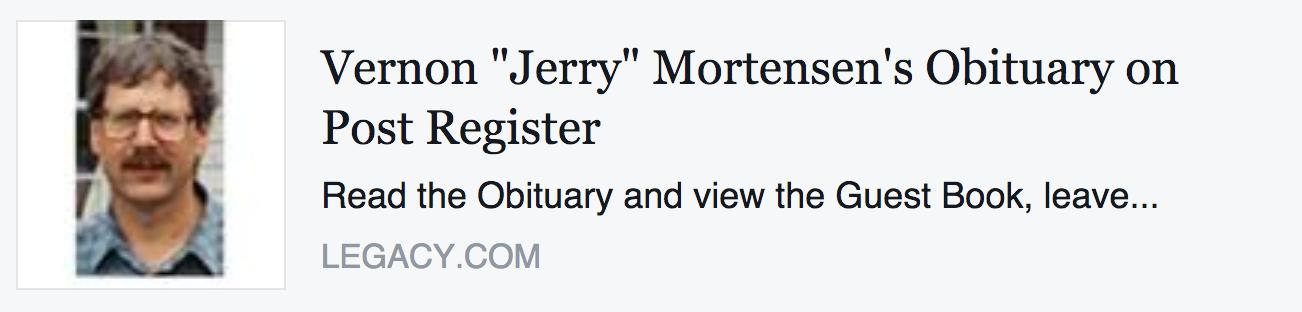 Vernon Jerrry Mortensen