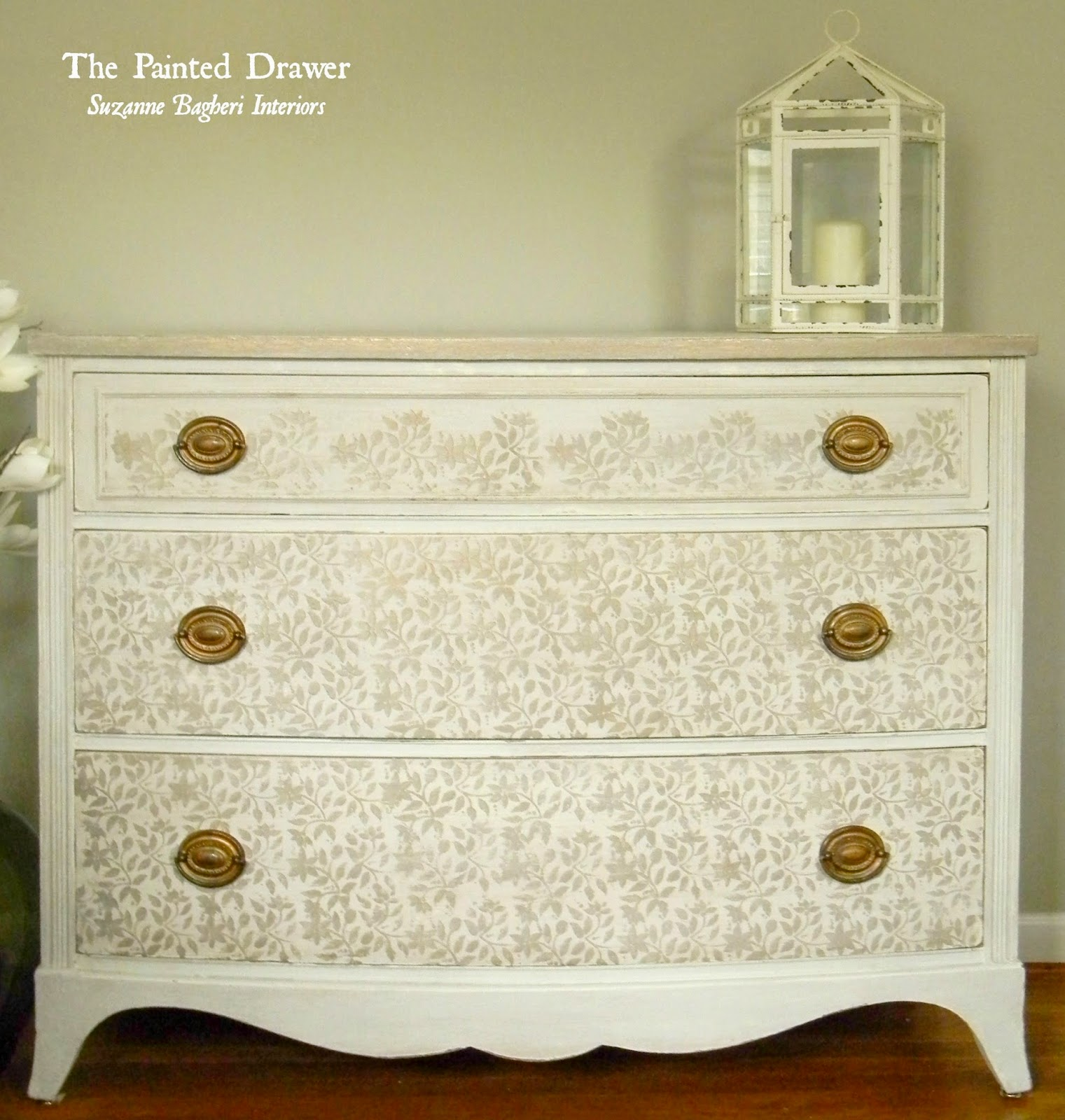 Suzanne from the Painted Drawer creates the loveliest painted treasures, including this stenciled antique dresser.