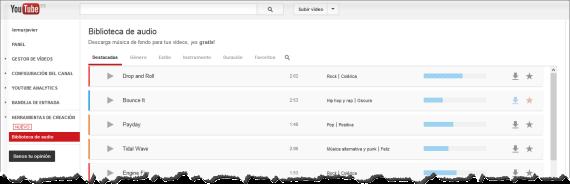 Youtube lanza una biblioteca de audio gratis