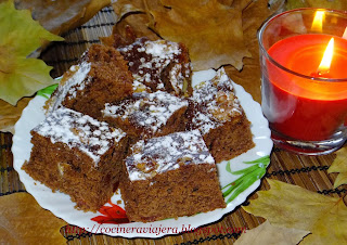 Prajitura Negresa cu dulceata de gutui si nuci/Brownie cake with quince jam and nuts