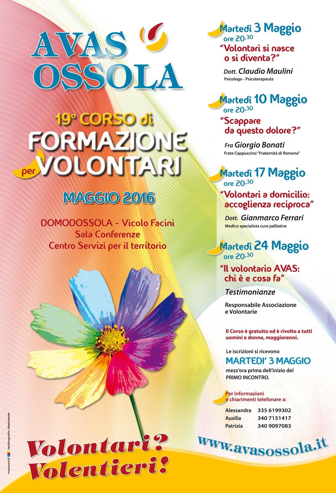 19° CORSO AVAS OSSOLA - Maggio 2016