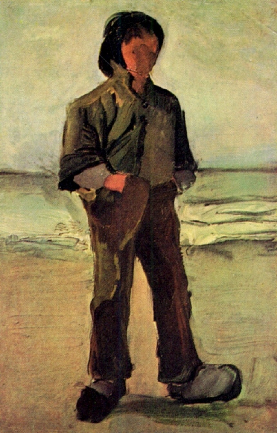 Fisherman on the Beach by Vincent van Gogh