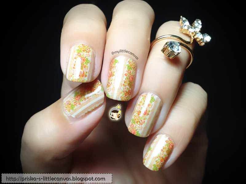 Simple Nail Art: Classic Vintage Floral Nails