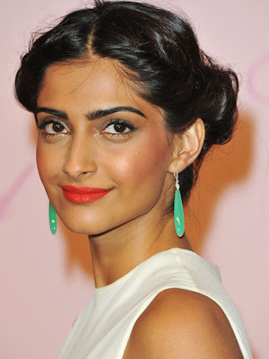 Sonam Kapoor Dangling Gemstone Earrings