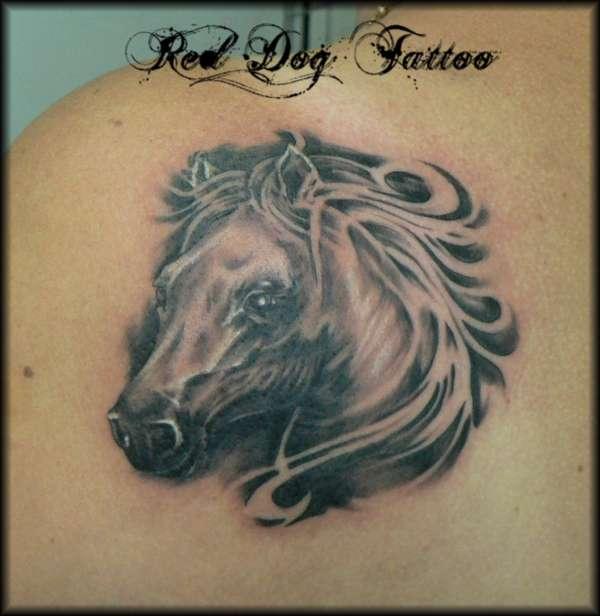 tita tattoos horse head tattoos. Black Bedroom Furniture Sets. Home Design Ideas