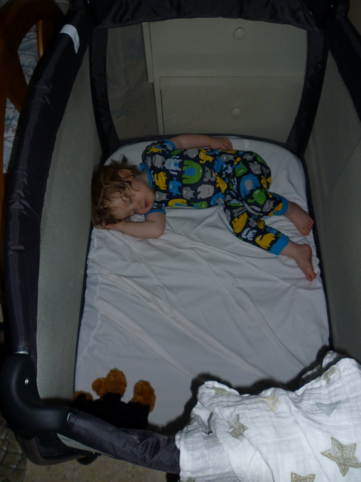 Transatlantic Blonde Mamas and Papas Sleep Travel Cot