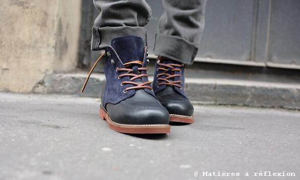 Boots hommes cuir marine Pointer
