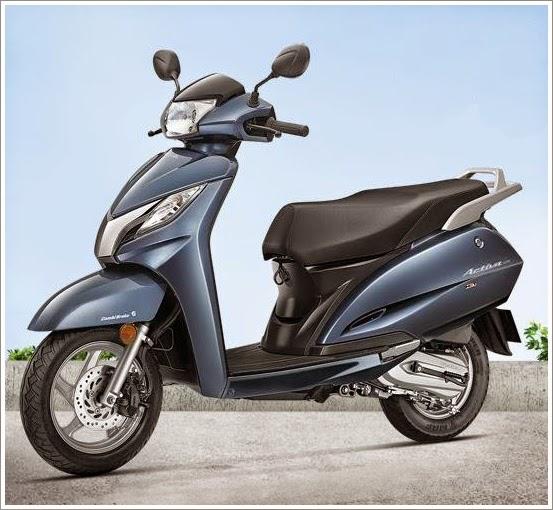 Honda Activa 125 cc blue color