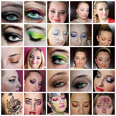 Zbiór moich makijaży, czyli ciągle robię błędy:)