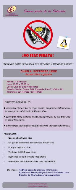 Imagen de una charla de software libre en Paraguay