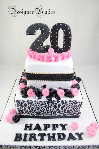 20th birthday cake for girls