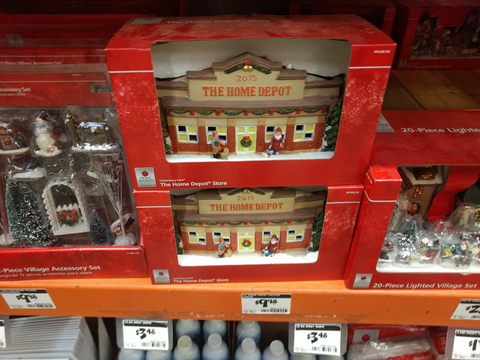 Home Depot Christmas Village 2015