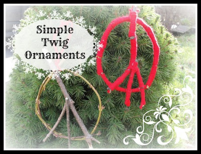twig christmas ornaments