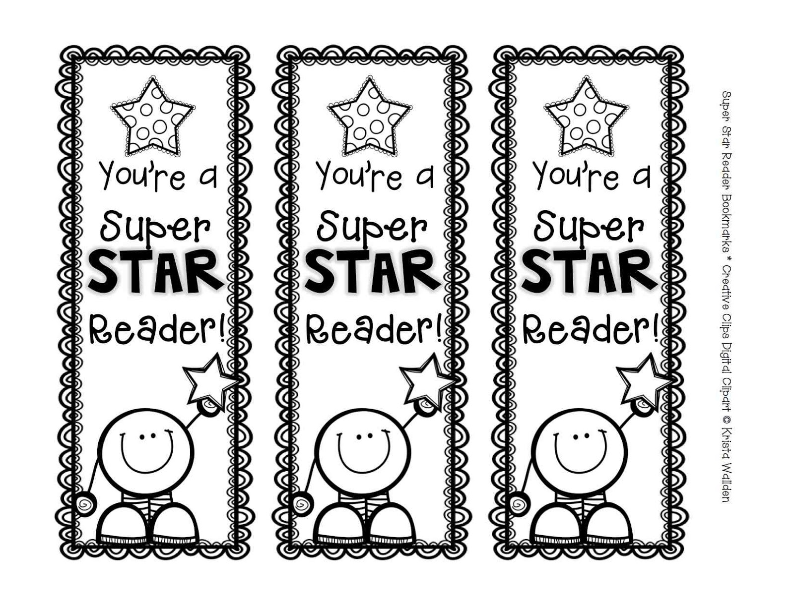 the creative chalkboard free super star reader bookmarks. Black Bedroom Furniture Sets. Home Design Ideas