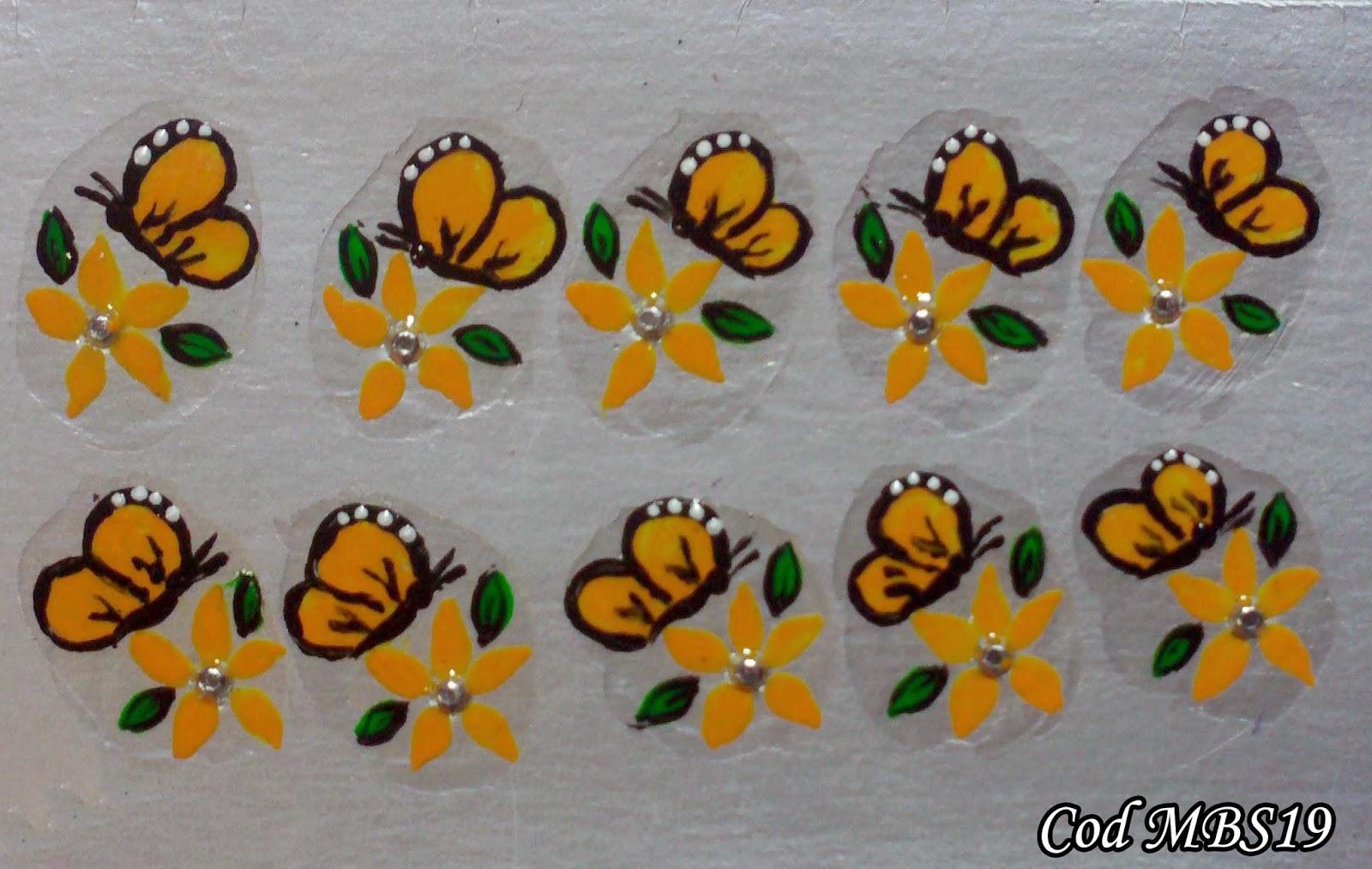 Artesanato Vila Do Conde ~ Adesivos Artesanais Manual Bela e Simples Nail Art