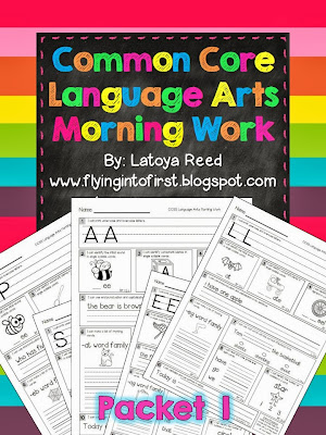 http://www.teacherspayteachers.com/Product/Morning-Work-for-ELA-Aligned-to-Common-Core-Packet-1-768606