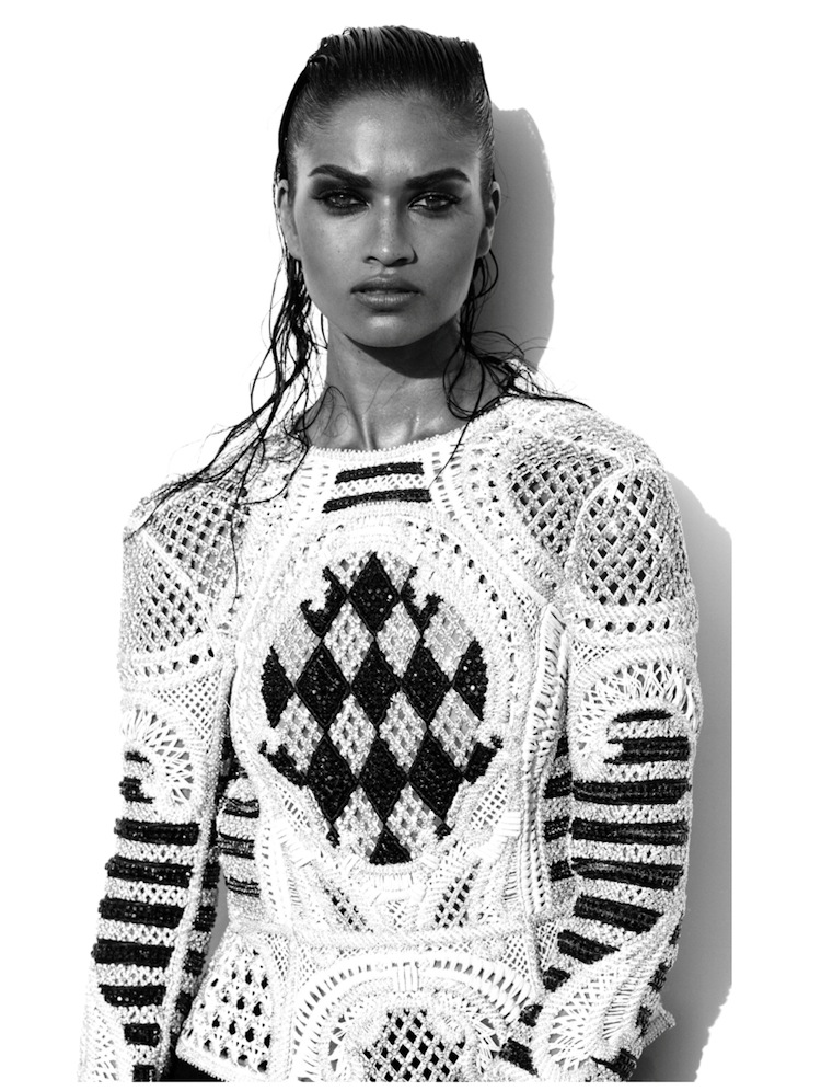 Shanina Shaik in Balmain by Tetsuharu Kubota for Lurve Magazine Summer 2013