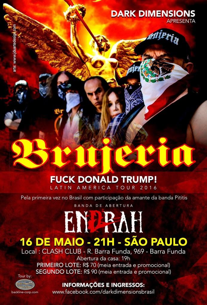 BRUJERIA  BRAZIL TOUR 2016