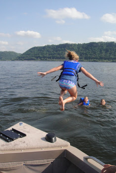 Tubing/swimming on Lake Pepin