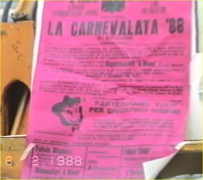 """come eravamo """"la carnevalata 1988"""" ...il video"""