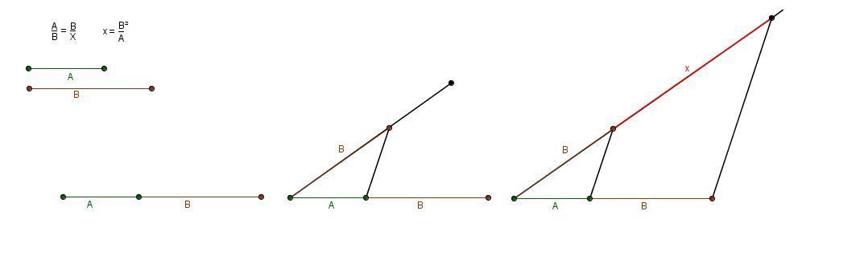 Lapiz, goma y papel: Media, tercera y cuarta proporcional