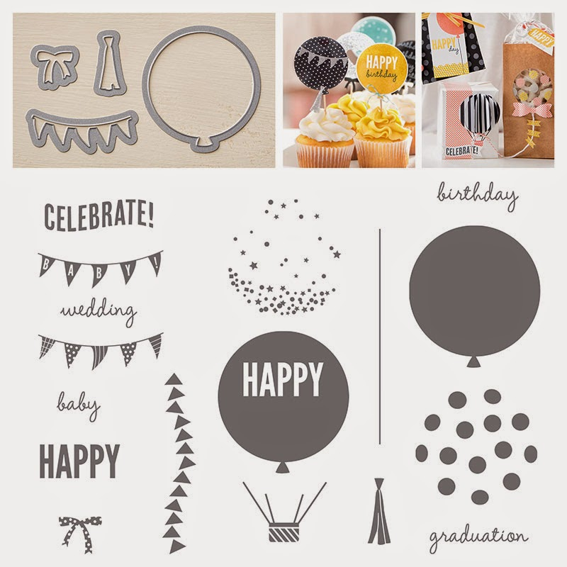 Stampin'UP!'s Celebrate Today stamp set and Balloon Framelit Dies