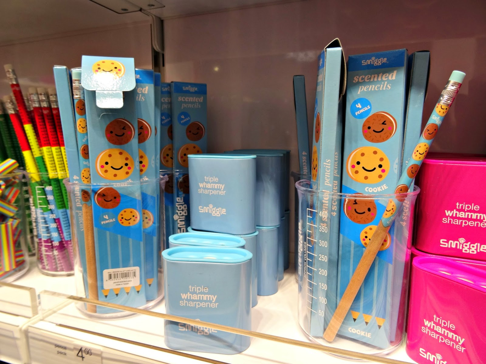 Smiggle pencils and milk pencil case