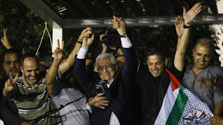 Abbas rejoicing with terrorists