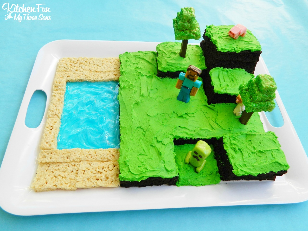 Kitchen Fun With My 3 Sons Easy Minecraft Birthday Party Cake