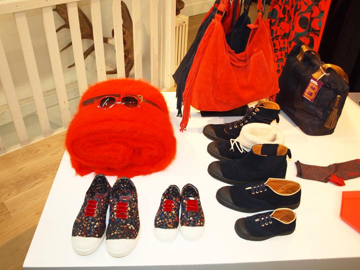 Bensimon accessoires chaussures rouge et bleu