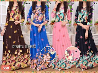Gena Maxi Dress Bunga