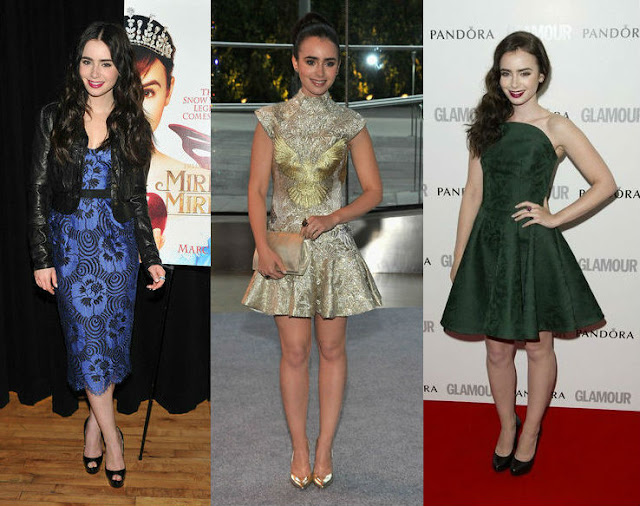 Lilly Collins' style, Lilly Collins red carpet style, Lilly Collins fashion, Lily Collins Alexander McQueen, Lily Collins Marchesa