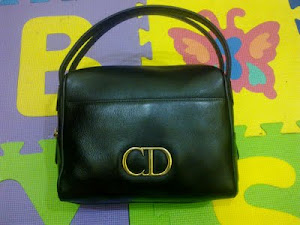 Cristian Dior Black Lambskin Tote Bag(SOLD)