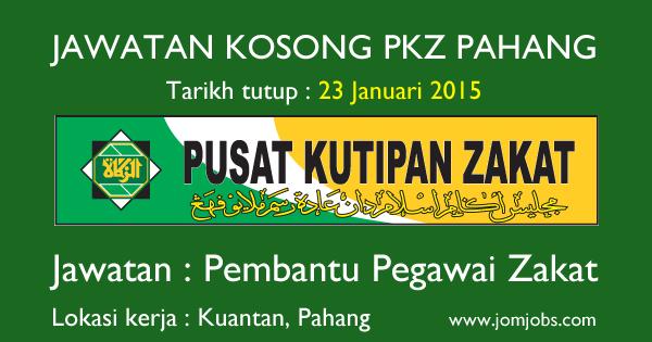 Jawatan Kosong PKZ Pahang 2015 Terkini