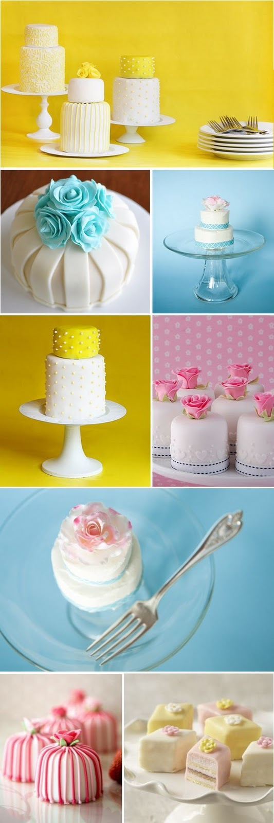 Mini wedding cake collection