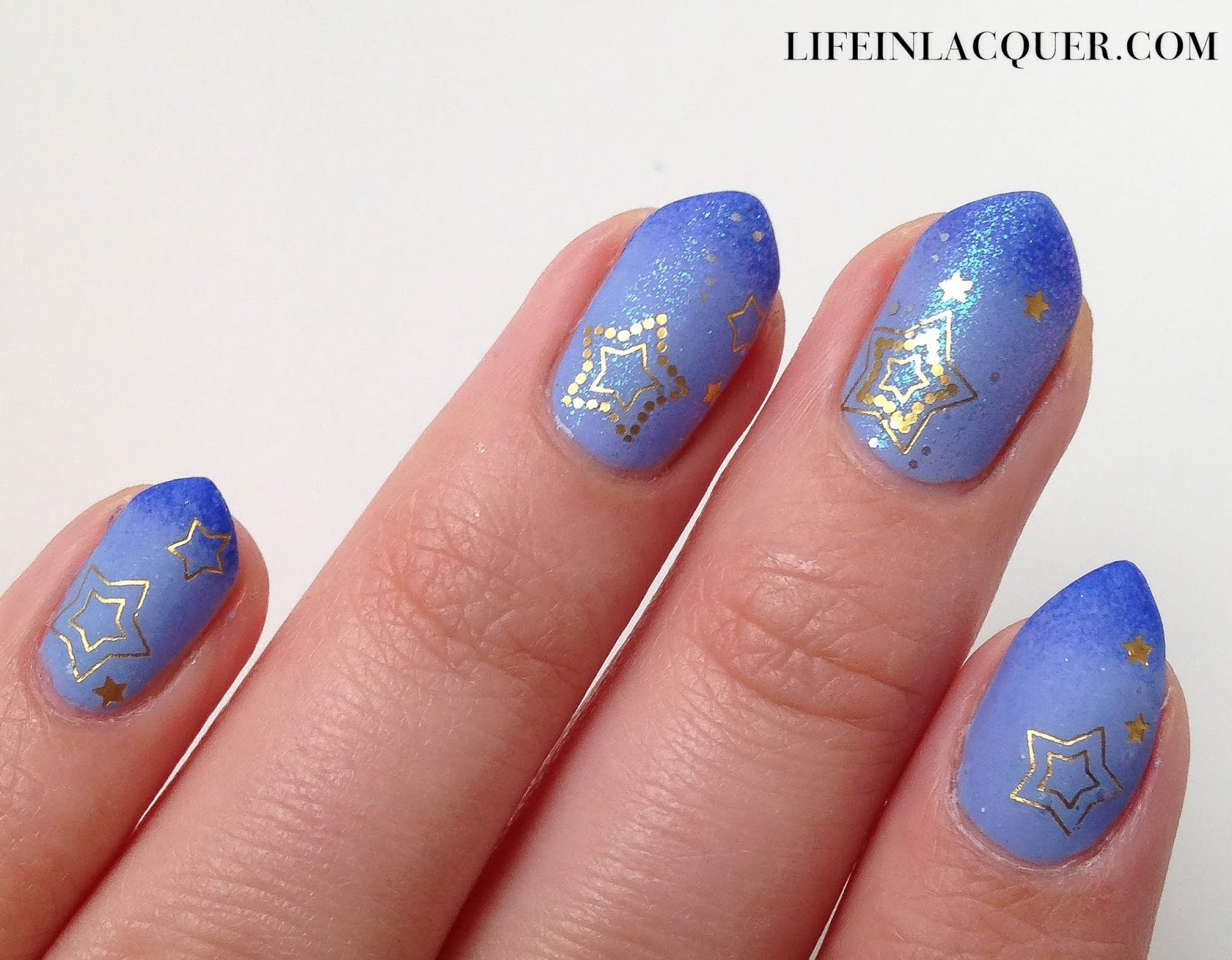 Sparkly nails water decal review nail art