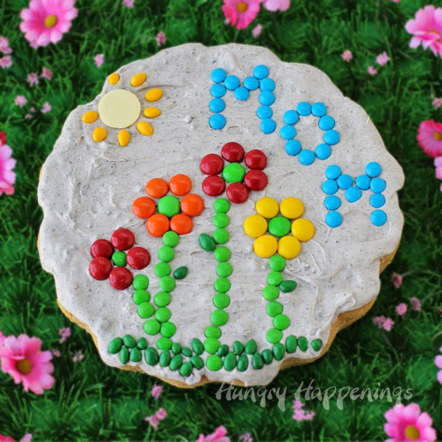 Sugar Cookies Garden Stone for Mother's Day | HungryHappenings.com