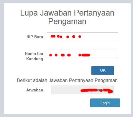 cara mengatasi Lupa Kode Register Saat Ingin LOGIN pada sistem online PUPNS BKN 5
